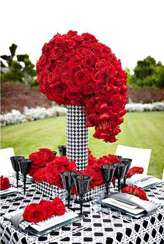 ideas para decorar una boda en color rojo4