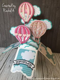 The Unpampered Stamper: Shaker Balloon Box Card