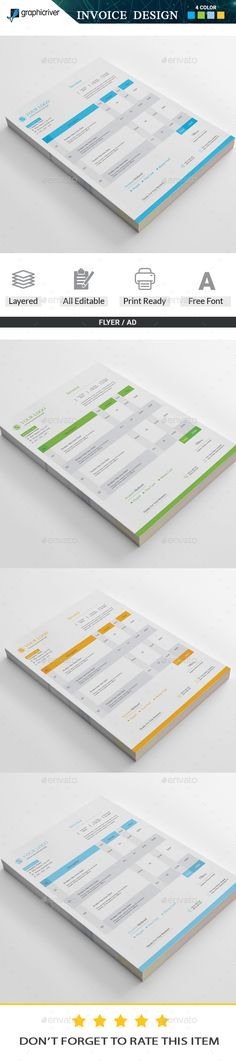 Invoice Stationery printing, Print templates and Template - how to print invoices