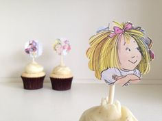 eloise cupcake toppers set of 12 by lowercaselettersco on Etsy