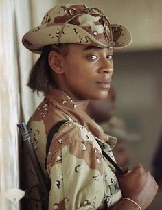 6 of 10 AP Women at War In this Sept. 1990 file photo, U. Tanya Miller of New York., leans against a wall on an airbase in Saudi Arabia. Miller was in Saudi Arabia with the Airborne Division in support of Operation Desert Shield. Us History, Women In History, Us Military, Us Army, Operation Desert Shield, 101st Airborne Division, American Soldiers, Afghanistan, Strong Women