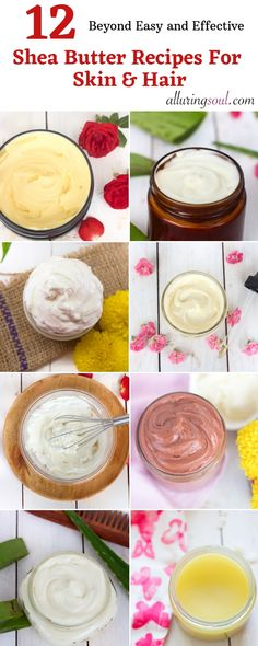 Removal Lotion 12 Shea butter recipes for healthy skin and hair. Learn how to make different shea butter recipes like face cream, body butter and lotions. Shea Butter Cream, Shea Butter Face, Whipped Body Butter, Shea Butter For Hair, The Body Shop, Hair Butter Recipe, Face Cream For Wrinkles, Face Creams, Body Creams