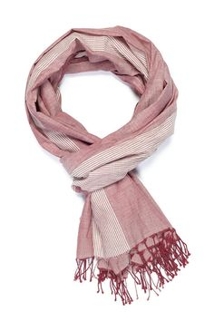Worn out like your favorite pair of jeans, this faded denim cotton scarf is a perfect muted toned style to match any Fall outfit. It is a rough