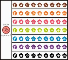 Iconos Gratis Cupcakes Diy