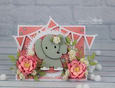 Step-card with elephant - Scrapbook.com
