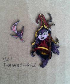 Lulu - the Fae Sorceress - League of Legends Champion - Pair of earrings