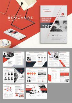 Company Profile Brochure - InDesign Company Brochure Design, Graphic Design Brochure, Booklet Design, Graphic Design Tips, Web Design, Brochure Indesign, Brochure Layout, Brochure Template, Page Layout Design