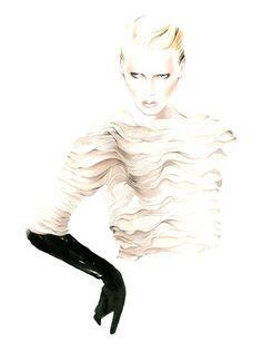 Antonio Soares Fashion Illustrations Fall/Winter 2013/14   Jenna McArthur