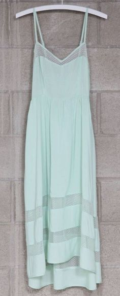 Aqua Slip Dress via Mikkat Market