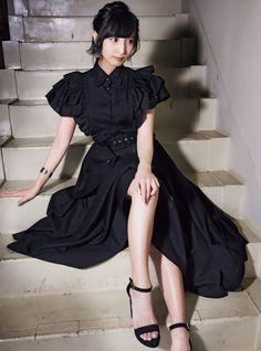 Tomboy Girl, Girls Dresses, Flower Girl Dresses, School Girl Outfit, Pretty Asian, Voice Actor, Japanese Girl, Asian Girl, Goth