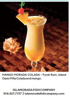 Mango Morada Colada from Islamorada Fish Company!