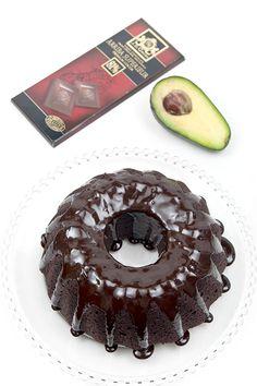 Vegan chocolate cake with avocado