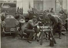 Automobilwerkstätte in der Cellulosefabrik Villach