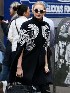 Gigi Hadid's Black and White Outfit is All Kinds of Cool