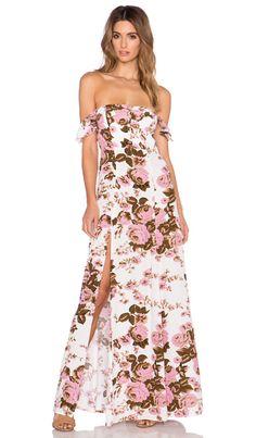 FLYNN SKYE x REVOLVE Bardot Maxi Dress in White Rose | REVOLVE