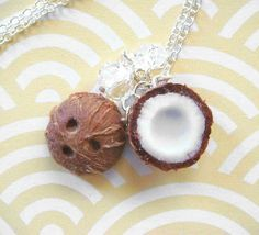 Coconut Necklace by kawaiiculture on Etsy, $25.00. Love this website!