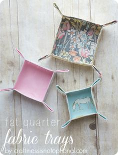 Fat Quarter Fabric Trays by Craftiness is not Optional | Ucreate
