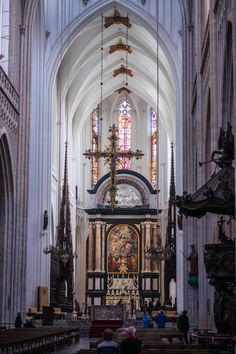 Sanctuary of the Cathedral of Our Lady (Onze-Lieve-Vrouwekathedraal) in Antwerp, Belgium.