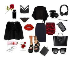 Untitled #15 by huetpaula on Polyvore featuring polyvore fashion style River Island Giorgia & Johns Jigsaw Adaptation Calvin Klein Calvin Klein Underwear Disturbia Longchamp Current Mood Rock 'N Rose Gucci Dunhill Guerlain Lime Crime Manic Panic NYC Narciso Rodriguez clothing  #lookbook #outfit