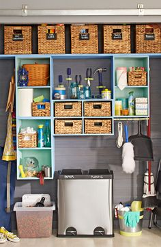 Turn your utility closet into a catchall space that neatly stores a variety of items. -- Lowe's Creative Ideas