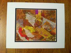 Torn paper art by barbara burgess
