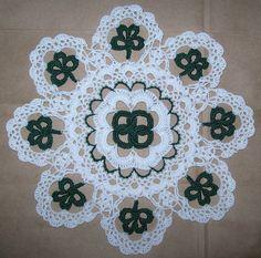St. Patrick's Day Crochet Doily Pattern try it