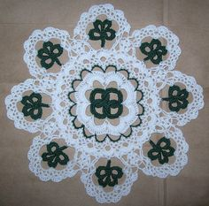 Crochet Doily Patterns for St Patrick Day Crochet Doily PDF Patterns