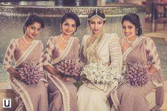 Dressed by Dhananjaya Bandara Bridesmaid Saree, Bridesmaid Flowers, Brides And Bridesmaids, Bridesmaid Ideas, Wedding Sari, Purple Wedding, Bridal Dresses, Flower Girl Dresses, Asian Bride