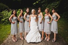 Gray Maids and a beautiful gown