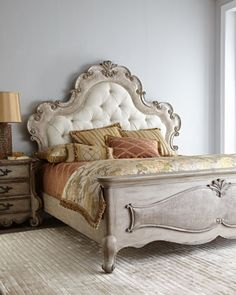 Estelline Bedroom Furniture at Horchow from Hooker. I love this bed. I'd like it for my Master.