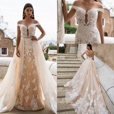 Milla Nova Champagne Wedding Dresses Mermaid Full Lace Over Skirts Applique Illusion Off Shoulder Backless 2017 Country Vintage Bridal Gowns Wedding Dresses Lace Vestidos De Novia Online with 189.0/Piece on Sweet-life's Store | DHgate.com