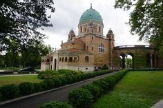 The main building of the cemetery