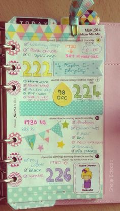 She's Eclectic: My week in my Filofax #19 - close up