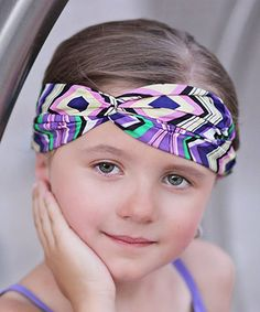Purple Modern Zigzag Headband by Just Couture #zulily #zulilyfinds