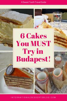 You've got to try these cakes in Budapest! #budapest #cake #europe #traveleurope