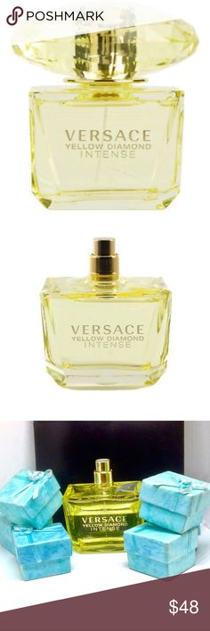 VERSACE YELLOW DIAMOND INTENSE 3.0 OZ EDP Its composition opens with luminous freshness of lemon, bergamot, neroli and pear sorbet. The heart features airy orange blossom, freesia, mimosa and water lily. The base is made of amber, precious musk and guaiac wood. Experience Versace Yellow Diamond with this 3 oz Eau de Parfum Spray  ❌This is a tester bottle that is missing the cap. I have never used it. It came this way from my distributor. I would say that approx. 1/4 is missing. Priced…