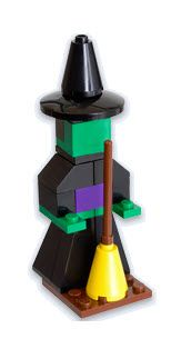 Lego offers tips and examples for making mini Lego Halloween decorations