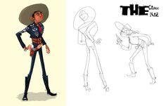 The Cisco Kid by Phillip Spehar, via Behance https://www.facebook.com/CharacterDesignReferences