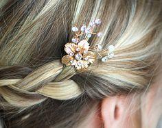Gold Leaf Laurel Hair comb Boho Bridal hair comb Vintage