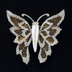 "Gold lace butterfly from the ""Italian Capriccio"" jewelry collection"