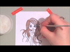 Spectrum Noir Blendable Pencils - Colouring Brunette Hair (Tutorial)