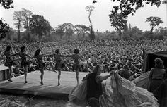 <strong>Not published in LIFE.</strong> French performers in first organized show for American troops after D-Day, Normandy, July 1944.
