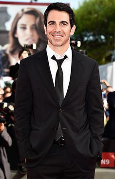 Mindy Project actor Chris Messina looks dapper at the Manglehorn premiere at the Venice Film Festival in Venice, Italy