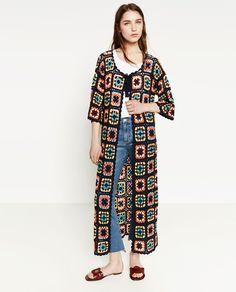 Image 1 of PATCHWORK CROCHET COAT from Zara