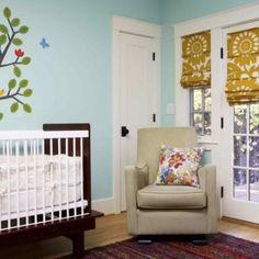 Twin Nursery. Love those curtains!