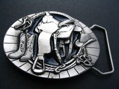SADDLE WESTERN COWBOY COWGIRL RODEO BOOTS BELT BUCKLE