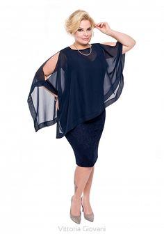 SUKIENKA NA WESELE DLA PUSZYSTEJ INCANTATO - Vittoria Giovani - Sukienki dla Puszystych – Sukienki Duże Rozmiary – Sukienki XXL