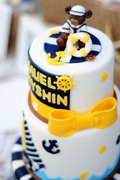 Julia's nautical baby shower cake