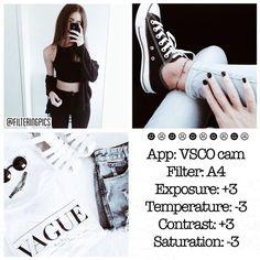 black and white instagram feed VSCO filter A4