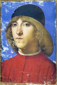 Gherardo di Giovanni del Fora - Portrait of Piero di Lorenzo de' Medici DESGASTES DE FONDOS...SIN RETOCAR